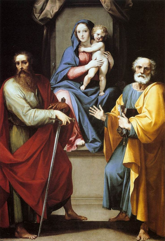 São Pedro e São Paulo com Maria Santíssima e o Menino Jesus