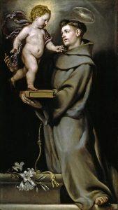 Pintura de Santo Antônio e o Menino Jesus