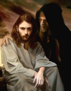 Jesus sendo tentado por Satanás; Jesus perfeição da alma orante