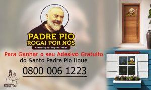 Adesivo do Santo Padre Pio